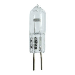 Ushio - 20W 12V T3 GY6.35 Halogen Clear Bulb by Ushio - This clear halogen light bulb from Ushio is designed for low voltage task and accent light applications or track lighting.