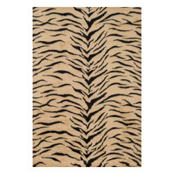 "Loloi Rugs - Danso Shags Rug DANSDA-03TR00 - 3'-0"" x 5'-0"" - Chic safari animal prints are reinterpreted into ultra soft faux fur rugs in the Danso Collection. Made in China of 100% poly-acrylic, Danso s rich solids or cheetah, zebra, and tiger patterns are available in trend right colors that set these rugs ahead of the pack."