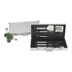 Picnic at Ascot - 5-Piece Barbecue Set in Aluminum Case - Features: