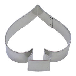 RM - Spade 3.75 In.  Tall B1325X - Spade cookie cutter, made of sturdy tin, Size 3.75 in., Depth 7/8 in., Color silver