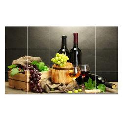 Picture-Tiles, LLC - Wine Grapes Photo Kitchen Bathroom Tile Mural  12.75 x 21.25 - * Wine Grapes Photo Kitchen Bathroom Tile Mural 1543