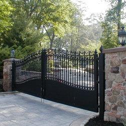 Estate Driveway Gate at Lakefront Lake Hopatcong -