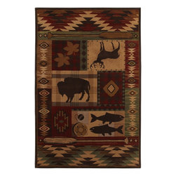Mohawk Home - Mohawk Pembroke Wyoming Rust Novelty 2'1 x 7'10 Rug (9604) - Inspired by southwestern horse blankets, this rug is a must have for your cabin or lodge.  A great way to evoke the feelings of the west, this rug feature warm earth tones. Unsurpassed in quality and style without sacrificing affordability, Mohawk Home