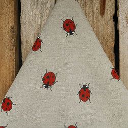 Linen Tea Towel, Ladybug by ViVi Creative - These ladybug kitchen towels can't help but spread the happy, even to daily household chores.