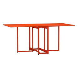 Flip n Dine Table - I live in a house that's saturated with neutral tones, so the thought of a punchy, orange-hued table makes me smile. Making a bright color the focal point of your dining room allows you to tone down the rest of your tablescape and room decor.