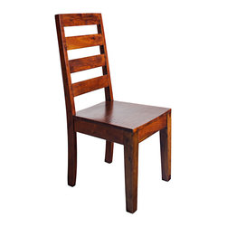 Rustic Home - Austin Chairs - These are the chairs that go with our Austin Round Dining Table.  Made of Sheesham wood.