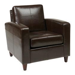 Avenue Six - Venus Club Chair in Espresso Eco Leather - Avenue Six Venus Club Chair in Espresso Eco Leather
