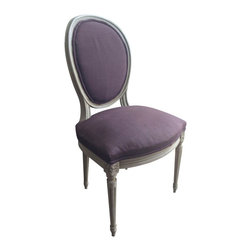 Louis XVI Antique Round Back Dining Chairs - S/4 -