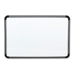 "Iceberg - Iceberg Ingenuity Dry-erase Whiteboard, 48""x36"", Styrene Surface - Dry-erase board features an easy-erase whiteboard surface made with a ghost-free, coated styrene dry-erase formula. Frame is made of blow-molded, high-density polyethylene. Frame face locks the board in place and unlocks to allow replacement of the whiteboard surface. Simply Mount wall hanging system is easy to mount vertically or horizontally. Dry-erase board includes a downward pointing marker retainer and accessory tray that mounts to bottom or side. Markers and eraser are sold separately."
