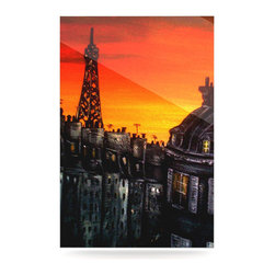 """Kess InHouse - Christen Treat """"Paris"""" Metal Luxe Panel (16"""" x 20"""") - Our luxe KESS InHouse art panels are the perfect addition to your super fab living room, dining room, bedroom or bathroom. Heck, we have customers that have them in their sunrooms. These items are the art equivalent to flat screens. They offer a bright splash of color in a sleek and elegant way. They are available in square and rectangle sizes. Comes with a shadow mount for an even sleeker finish. By infusing the dyes of the artwork directly onto specially coated metal panels, the artwork is extremely durable and will showcase the exceptional detail. Use them together to make large art installations or showcase them individually. Our KESS InHouse Art Panels will jump off your walls. We can't wait to see what our interior design savvy clients will come up with next."""