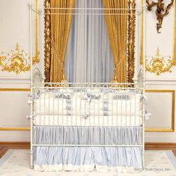 Venetian Iron Crib in Antique White by Bratt Decor - Venetian 3 in 1 Crib in Antique White by Bratt Decor