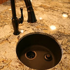 Functional Kitchen Remodel - Kitchen faucet and granite countertop