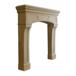 Distinctive Mantel Designs - Manhattan Mantel, Stoney Ground - Crisp edges and simple details give the Manhattan its charm.  Thoroughly contemporary but rich with detail, the Manhattan makes a great choice for any transitional space.  Its smaller size also makes it ideal for rooms where size is of concern.