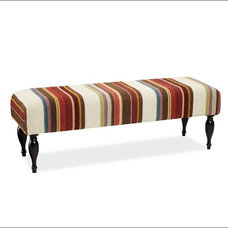 contemporary benches by Pottery Barn
