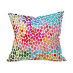 DENY Designs - Garima Dhawan Rain 6 Throw Pillow, 20x20x6 - Wanna transform a serious room into a fun, inviting space? Looking to complete a room full of solids with a unique print? Need to add a pop of color to your dull, lackluster space? Accomplish all of the above with one simple, yet powerful home accessory we like to call the DENY throw pillow collection!