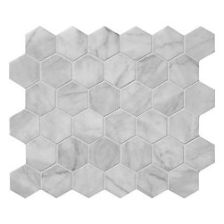 marblesystems - Avenza Honed Hexagon Marble Mosaics - Natural mosaic tile that can be used on floors and walls.