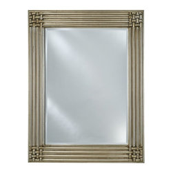 Afina - Estate Collection Woven Corners Mirror - EC16-2834-GD - Shop for Bathroom Mirrors from Hayneedle.com! The Estate Collection Woven Corners Mirror creates a distinctive look that can complement a variety of decor styles. Its wood frame features a decorative design of woven corners from thick rails in your choice of antique gold or antique silver finish options. This beautiful yet simplistically stylized frame outlines a beveled mirror design. Hang either portrait or landscape with the included hardware and take advantage of size options that can match many space requirements in the home or office.Mirror Dimension options:28W x 34H inches34W x 42H inches40W x 51H inchesAbout AfinaAfina Corporation is a manufacturer and importer of fine bath cabinetry lighting fixtures and decorative wall mirrors. Afina products are available in an extensive palette of colors and decorative styles to reflect the trends of a new millennium. Based in Paterson N.J. Afina is committed to providing fine products that will be an integral part of your unique bath environment.