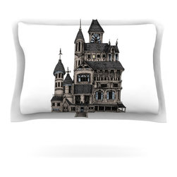 "Kess InHouse - Sophy Tuttle ""House of Usher"" Haunted Pillow Sham (Cotton, 40"" x 20"") - Pairing your already chic duvet cover with playful pillow shams is the perfect way to tie your bedroom together. There are endless possibilities to feed your artistic palette with these imaginative pillow shams. It will looks so elegant you won't want ruin the masterpiece you have created when you go to bed. Not only are these pillow shams nice to look at they are also made from a high quality cotton blend. They are so soft that they will elevate your sleep up to level that is beyond Cloud 9. We always print our goods with the highest quality printing process in order to maintain the integrity of the art that you are adeptly displaying. This means that you won't have to worry about your art fading or your sham loosing it's freshness."