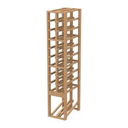 EcoWineracks 2 Column Upper Display Rack, Golden Color, Clear Acrylic Finish - EcoWineracks are the worlds only traditional style wine racks made from non-forested and sustainable bamboo. Bamboo is superior to wood in strength and durability, is non-warping and has consistent grain.