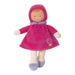 Corolle Barbicorolle Miss Grenadines Heart 9.5 in. Doll - Delightfully cuddly and made just for newborns, the Corolle Barbicorolle Miss Grenadines Heart 9.5 in. Doll is sweet-smelling and huggably soft. This little dolly features a lightweight, plush body and wears a sewn-on raspberry velour outfit with sewn-on hood and lavender collar. Her premium vinyl face has a sweet expression. This doll is machine-washable, has a soft vanilla scent, and is sure to be baby's favorite. She even won a Platinum Seal Award from the Oppenheim Toy Portfolio!About CorolleCorolle is a premier doll brand designed in the storybook region of France's Loire Valley. Since 1979, Corolle has been creating highly detailed dolls designed to be cherished by children everywhere. Every Corolle doll will inspire magical childhood memories that will last for a lifetime. Corolle dolls look and feel as real as possible. They're created of soft, supple vinyl, have natural-looking hair, and wear on-trend fashions. Corolle dolls are designed durable enough to withstand years of hugs and love. Perfect heirloom treasures! Doll play encourages children to explore different roles from caring for and sharing hopes and dreams to finding an understanding playmate and friend for life. Corolle designs dolls for children of all ages.There is a range of Corolle dolls designed for specific ages. Babi Corolle is a soft-body doll perfect for newborn babies and older. It's machine-washable, feather-light, and made to be loved. Mon Premier Corolle is designed for babies 18 months and older. This line includes a range of baby dolls, clothing, and accessories. The dolls are lightweight and soft. The clothing has Velcro closures so it's easy to put on and take off. Mon Classique Corolle is a classic baby doll designed for toddlers to love and nurture. This line has a complete assortment of larger baby dolls, clothing, and nursery accessories. Some even have hair that can be brushed and styled. Others coo, giggle, drink, an
