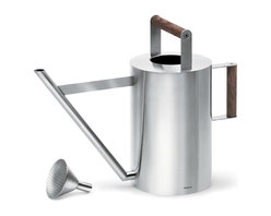Blomus - Verdo Watering Can - Add the warmth of wood to perfect design and you have the Verdo watering can. Ergonomically correct in every sense of the word, this may become one of your favorite indoor/patio gardening tools.
