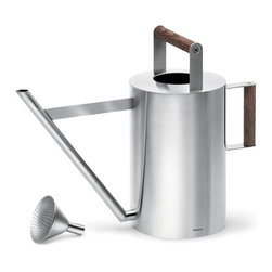 Blomus - Verdo Watering Can - Large - Add the warmth of wood to perfect design and you have the Verdo watering can. Ergonomically correct in every sense of the word, this may become one of your favorite indoor/patio gardening tools.