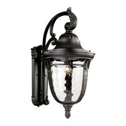 """Trans Globe Lighting - Trans Globe Lighting 40222 ROB Braided Roman 26"""" Wall Coach - Capture Grecian, Roman, or French decor elements with this decorative outdoor collection showing braided glass frame, feather detail, and leaf motifs. Clear water glass blends smooth shadows across landscape and garden areas."""