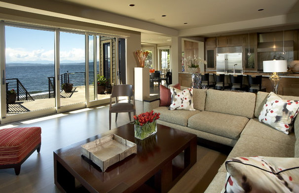 Eclectic Living Room by David Olson Architect
