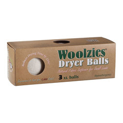 Soft By Nature - Woolzies Dryer Balls, Box of 3, Single - Go green and spend less time in the laundry and dryer room knowing that you will have the perfect set of laundry with Woolzies 100% Wool Dryer Balls, 6-pack set, or the 3-pack set. Woolzies Dryer Balls are expected to last for at least 1,000 laundry loads and are made from 100% hypoallergenic hand-spun wool to help save time, money, and stress on the environment by eliminating the need for harmful conventional fabric softeners, plastic dryer balls, and dryer sheets. Not only do the dryer balls reduce large load and small load drying times up to 25% and 40% respectively, but they also reduce electrical, gas, and appliance usage. Your wallet is not the only thing benefiting from the dryer balls as they also reduce clothing damage from unnecessary additional dryer time and exposure to fabric softeners, plastic dryer balls, and dryer sheet chemicals. Woolzies Dryer Balls speed up the drying process by bouncing around and between your clothing allowing for better hot air flow so all your clothes are thoroughly dried. Dry your clothes knowing that the Woolzies Dryer Balls are good for the earth, good for the family, good for the future, good for your dryer, and good for future generations.