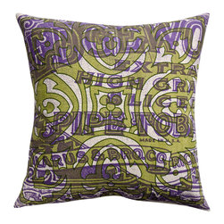 KOKO - Vintage Tin Pillow, Pipe Tobacco - Even a nonsmoker can appreciate the vintage charm of this old tobacco ad. The layers of color and the bold designs work beautifully together. Pair this with other shades of purple and green for a rich look in any home.