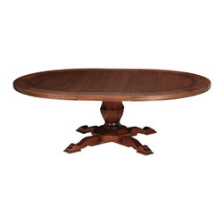 TerraSur - 60-inch Siena Round Extension Dining Table - Extend some handsome hospitality to your dinner guests with this elegant extension table. Hand finished, delicately detailed and conveniently equipped with 25 extra inches of space, it's long on both style and substance. Made in Argentina.