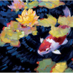 Kohaku Outdoor Print - Ballard Designs - Add art to your outdoor space with this Kohaku print. It is completely waterproof and made for the outdoors!