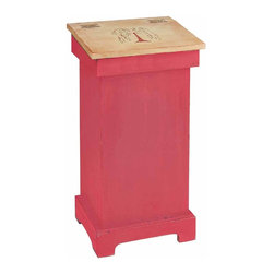 """Renovators Supply - Storage Bins Red/Nature Wood Tree Of Life Storage Bin 25.5H x 20W 