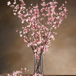 Silk Cherry Blossoms - Cherry blossoms have a short season, so these faux ones would look wonderful in the room.