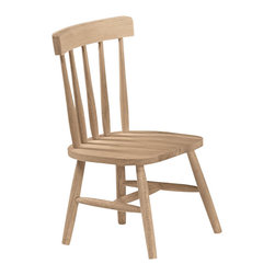 International Concepts - International Concepts Unfinished Tot's chair (set of 2) - International Concepts - Kids Chairs - 1124P - This chair set from International Concepts ships fully assembled for your convenience.  This set includes 2 chairs.