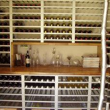 Contemporary Wine Cellar by Wild Grapes Ltd