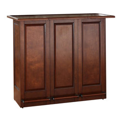 Crosley Furniture - Crosley Mobile Folding Bar in Vintage Mahogany Finish - Crosley Furniture - Home Bars - CF4003MA
