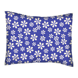 SheetWorld - SheetWorld Twin Pillow Case - Percale Pillow Case - Primary Royal Floral Woven - Twin pillow case. Made of an all cotton flannel fabric. Side Opening. Features the one and only primary royal floral woven!