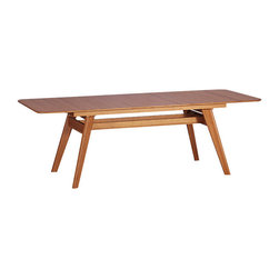 Greenington - Currant Extendable Dining Table - Set a sleek, sophisticated tone for your dining room with this solid bamboo table. The wow factor is its versatility: The surface extends 20 inches to provide room for more diners! Sturdy yet stylish, this table is one for the ages.