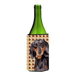 Caroline's Treasures - Dachshund Fall Leaves Portrait Wine Bottle Koozie Hugger SC9203LITERK - Dachshund Fall Leaves Portrait Wine Bottle Koozie Hugger SC9203LITERK Fits 750 ml. wine or other beverage bottles. Fits 24 oz. cans or pint bottles. Great collapsible koozie for large cans of beer, Energy Drinks or large Iced Tea beverages. Great to keep track of your beverage and add a bit of flair to a gathering. Wash the hugger in your washing machine. Design will not come off.