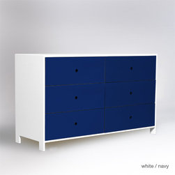 ducduc parker 4 drawer dresser - Drawer fronts available in oak, walnut, chalkboard, or colors.