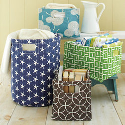 Printed Canvas Storage Bins - These are perfect for a playroom, bathroom or bedroom. I'd love to use these to keep books organized in the playroom or washcloths together in the bathroom.