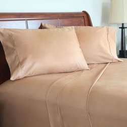 Lavish Home - Lavish Home 600 Thread Count Cotton Sateen Sheet Set - Moca Multicolor - 66-Q001 - Shop for Sheets from Hayneedle.com! Luxuriously soft and wrinkle-resistant the Lavish Home 600 Thread Count Cotton Sateen Sheet Set - Mocha is woven of a silky 600-thread count blend of cotton and polyester. Its sateen finish and sofa mocha color make it warm and inviting. This sheet set includes two pillowcases a flat sheet and a generous fitted sheet that fits up to a 18-inch mattress. Available in select size options.Queen Dimensions:Fitted sheet: 60L x 80W x 15H in.Flat sheet: 90 x 102 in.Pillowcase: 20 x 30 in. eachKing Dimensions:Fitted sheet: 78L x 80W x 15H in.Flat sheet: 108 x 102 in.Pillowcase: 20 x 40 in. eachAbout Trademark Global Inc.Located in Lorain Ohio Trademark Global offers a vast selection of items for your home and lifestyle. Whether you need automotive products collectibles electronics general merchandise home and garden items home decor housewares outdoor supplies sporting goods tools or toys Trademark Global has it at a price you can afford. Decor items and so much more are the hallmark of this company.