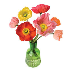 OOTS! - Flat Flowers Originals Poppy - Not a green thumb? These charming poppies are guaranteed to lift your spirits in the dead of winter through the thaw. Designed by Dutch artist Suseela Gorter, these window-art displays are crafted of static material — without adhesives — to bring a little cheer into the room with little-to-no effort on the part of their caregiver.