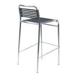 Bar Chair - The Bungie-B bar chair features that it is stackable, which will save  much space no matter at home or office.