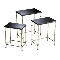 Granite Metallic Nesting Tables - These rectangular nesting tables are pretty and very well priced.