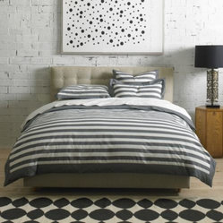 Graphic Stripe Duvet Set by DwellStudio