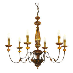 Artistica - Hand Made in Italy - Alba Lamp: Chandelier: Bohemia/W. Iron/H.Painted - Alba Lamp Collection: