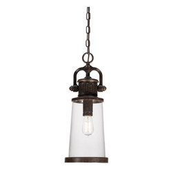 Quoizel Lighting - Quoizel Lighting SDN1908IB Steadman Outdoor Down Light Pendant With 1 Light - For over seventy years, Quoizel lighting has been dedicated to the design and production of its diversified line of fine lighting products and home accessories.