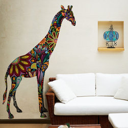 My Wonderful Walls - Giraffe Wall Sticker (3' Left Facing) - Gorgeous giraffe wall sticker
